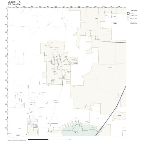 Map Of Justin Texas.Amazon Com Zip Code Wall Map Of Justin Tx Zip Code Map Laminated