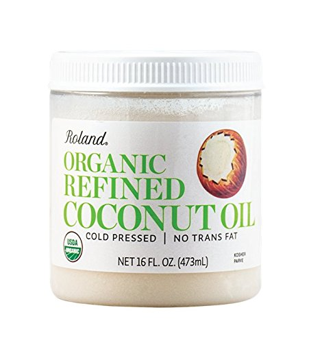 Roland Foods Organic Coconut Oil, Refined, 16 Ounce ()
