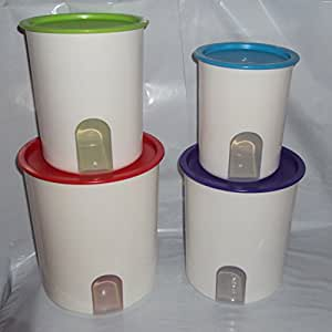 tupperware kitchen storage tupperware one touch canister set of 4 2964