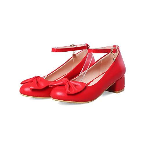 Sandali Donna Rosso 35 red Con Eu An Zeppa Dgu00447 6xPBqF