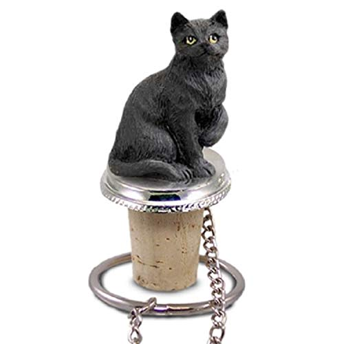 Conversation Concepts Black Shorthaired Tabby Cat Bottle Stopper