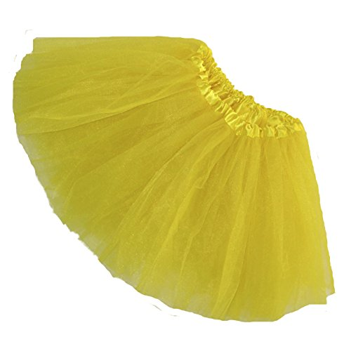 Big Bird Costume Tutu (Girls Ballet Tutu Waist 16-32 Length 11-12 by Southern Wrag Company (Yellow))