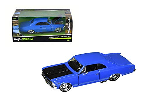 New DIECAST Toys CAR MAISTO 1:24 W/B Classic Muscle - 1966 Chevrolet Chevelle SS 396 31333BL