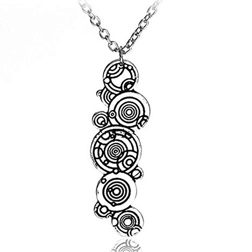 DW Gallifreyan Necklace Pendant Jewelry - Christmas Gift Ideas (Silver) (Dr Who Costume Ideas)