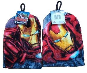 Avengers Iron Man Wash Mitt - Bathing Accessories Marvel Poplar Linens