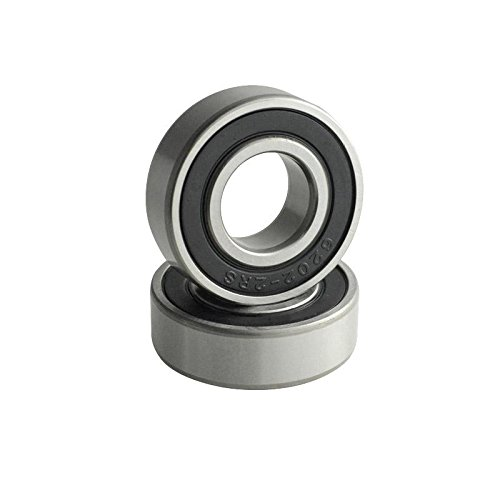 2 Pcs Premium 6202-5//8 6202-10 2RS Rubber Sealed Deep Groove Ball Bearing 15x35