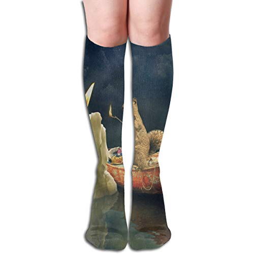 Socks Lights Candle Squirrel Designer Womens Stocking for sale  Delivered anywhere in USA