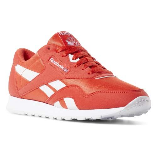 Reebok Classic Nylon Sneaker, Canton red/White, 3 M US (Reebok Red Shoes Women)