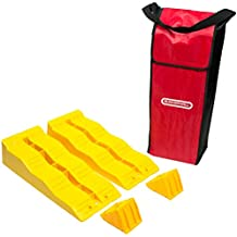 Leveler Ramps and Chock Blocks for Camper RV Travel Trailer or Motorhome - Complete Leveling Accessories Set by BUNKERWALL BW4201
