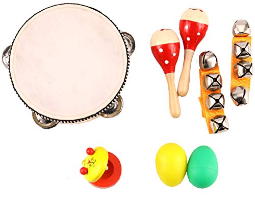 Zochoose Kids Musical Instrument, Wooden Musical Instrument Toys for Toddlers Baby Infant, Toddler Music Toy Set]()