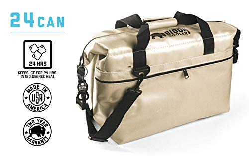 BISON COOLERS 24 Can Insulated Ice Chest Bag for Beer, Soda, Water or Lunch | Tear Proof with 24 Hour Ice Retention | Includes 2 Year Warranty | Made in The USA (Best Dove Hunting In Arizona)