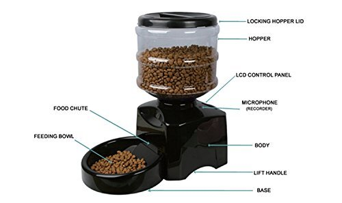 PYRUS Automatic Feeder Electric Pet Dry Food Container with LCD Display Large Automatic Feeder for Dogs Cats by PYRUS (Image #1)