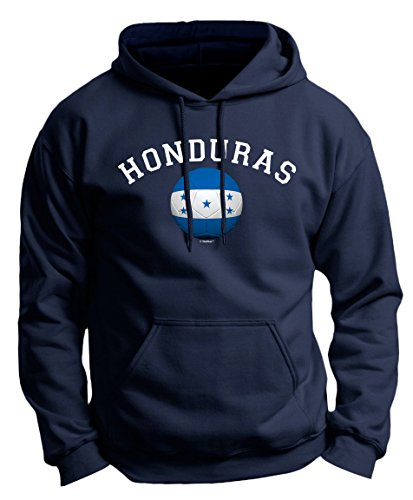 Futbol Gifts Honduras Pride Football Soccer Flag Ball Premium Hoodie Sweatshirt Medium Navy (Honduras Jacket)