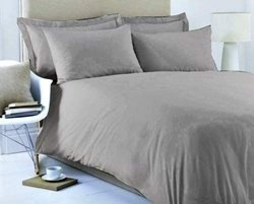 5 HOTEL QUALITY EGYPTIAN COTTON 200 THREAD COUNT PLAIN DYED PASTEL COLOUR FLAT SHEET SUPER KING GREY