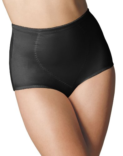 Bali Women's Shapewear Tummy Panel Brief Firm Control 2-Pack, Black, 3X