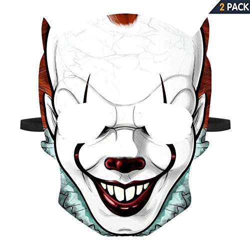 WOWMUM Pennywise Cosplay 3D Print Halloween Scary Mask Costume Festival Party Decoration Props ()