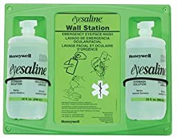 Double Wall Station, 16 oz. Bottle Personal Eyewashes and Wall Stations (1 Case; 4/Case) - R3-32-000465-0000