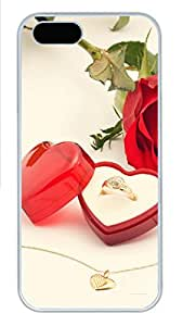 iPhone 5s Cases & Covers - Valentines Diamond Ring Custom PC Soft Case Cover Protector for iPhone 5s - White