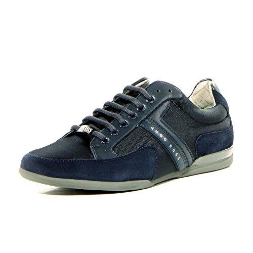 - Hugo Boss BOSS Green Men's Spacit Leather Sneaker, Navy, US 6 - EU 39