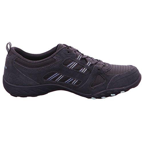 Skechers Breathe-Easy-Good Luck, Zapatillas para Mujer gris