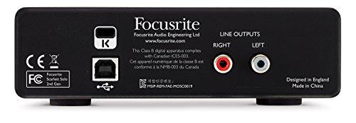Interfaz de audio USB Focusrite Scarlett Solo (2.ª generación) con Pro Tools | Primero (SCARLETT-SOLO-2ND-GEN)