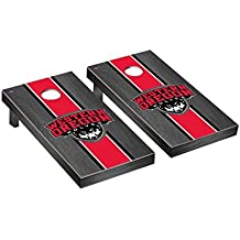 Victory Tailgate Western Oregon Wolves Regulation Cornhole Game Set Onyx Stained Stripe Version