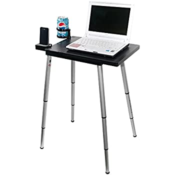 Tabletote Plus Black Portable Compact Lightweight Adjustable Height Laptop Notebook Computer Stand
