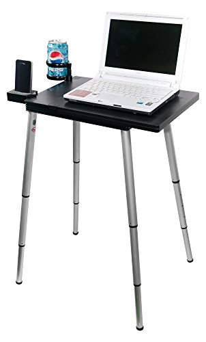 Tabletote Plus Black Portable Compact Lightweight Adjustable Height Laptop Notebook Computer Stand Table