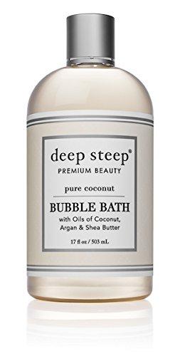 Deep Steep Bubble Bath, Coconut Oil, 17 Ounces (17 Ounce, Pure Coconut)