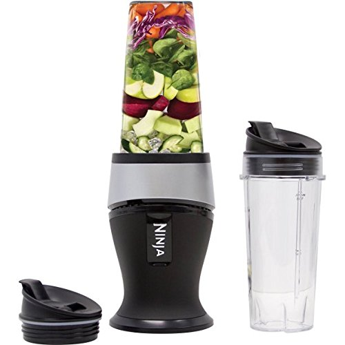 Fitness Blender Ninja Collection Stainless Steel with Pulse Technology and Sealed Lid, Black