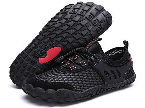 Mesh Plage Séchage Pour Yooeen Tous Et Respirante Chaussure Rapide D'eau De 1 Femme Les Aquatiques Chaussures Noir Homme Sports qww1XY8