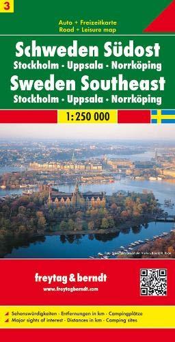 Sheet 3, Sweden South East/Stockholm/Uppsala/Norrkoping (Road Maps)
