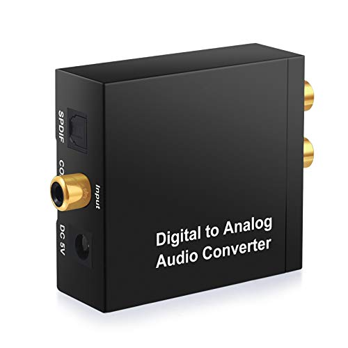 START Digital to Analog DAC Converter SPDIF Toslink to Analog Stereo Audio R/L with Optical Cable for PS4 Xbox 360 HDTV TV Box Blu Ray DVD Home Cinema System Amps ()