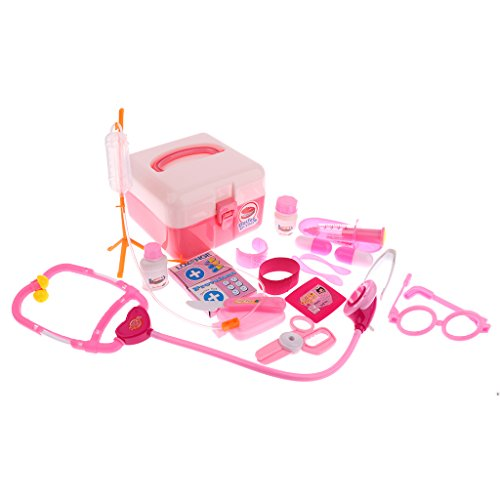 Homyl Kids Doctor for Girls Nurse Doctor Baby Play Role pink Boys Kit 23pcs Developmental Preschool Playset Pretend Toy HxqIHr