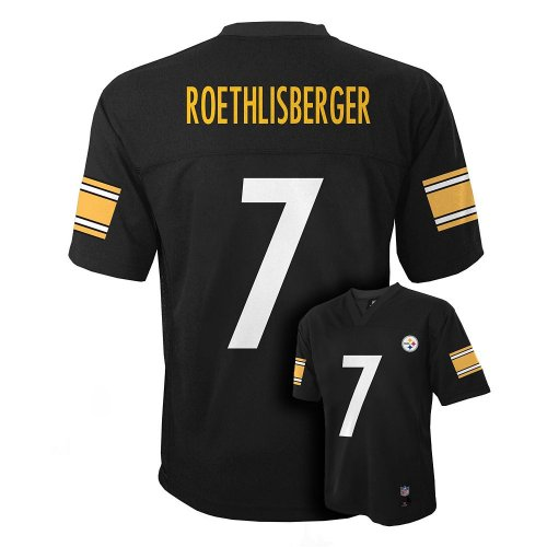 Ben Roethlisberger Pittsburgh Steelers  7 Nfl Youth Jersey Black  Youth Large 14 16