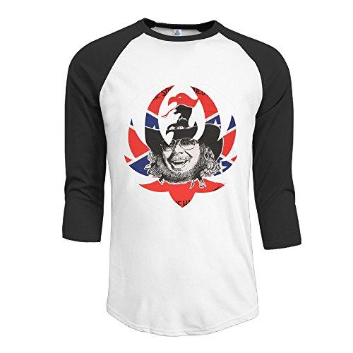 r-hot-mens-hank-williams-jr-logo-jersey-baseball-t-shirt-neck-cotton-blend-3-4-black