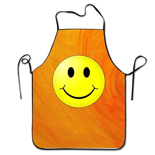 SPXUBZ Big Boys' Smiley Face Apron for Baking Crafting Gardening Cooking Durable Easy Cleaning Creative Bib for Man and Woman Standar - Face Smiley Aprons