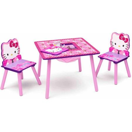 Hello Kitty Table and Chair Set with Storage