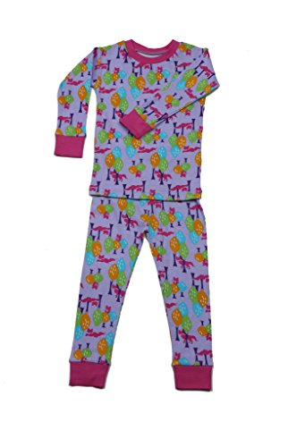 New Jammies Little Girls' Organic Cotton Snuggly Pajamas, Sly Fox, 2T ()