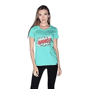 Creo Bang Retro T-Shirt For Women - M, Green