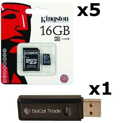 Amazon.com: 5 Pack – Tarjeta de memoria microSDHC Kingston ...