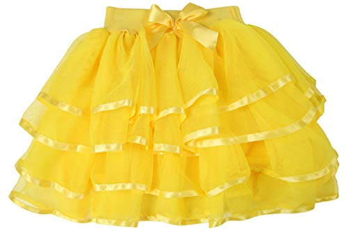 storeofbaby Big Girls Yellow Tulle Tutu Skirt for Holiday Christmas Occasions
