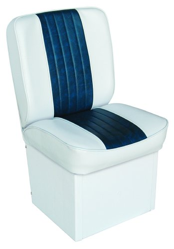 Deluxe Boat Seats Jump Seat (Wise 8WD1414P-924 Deluxe Universal Jump Seat (White/Navy))