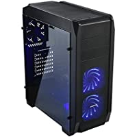 Centaurus Proton 2 Gaming Computer - Intel Core i5 8600K 4.7GHz 6-Core, Aftermarket Cooler, 16GB DDR4 RAM, Nvidia GTX 1060 6GB, 120GB SSD + 1TB HDD, Win10, WiFi, VR Gaming PC, Tempered Glass
