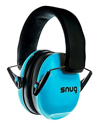 Snug Safe n Sound Kids Earmuffs / Hearing Protectors  Adjustable Headband Ear Defenders For Children and Adults (Aqua Blue)