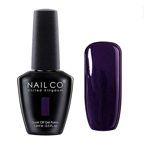 NAILCO 15ml Soak Off UV Led Nail Gel Polish Nail Art Salon Manicure Lacquer Varnish Midnight Purple 1342 ()
