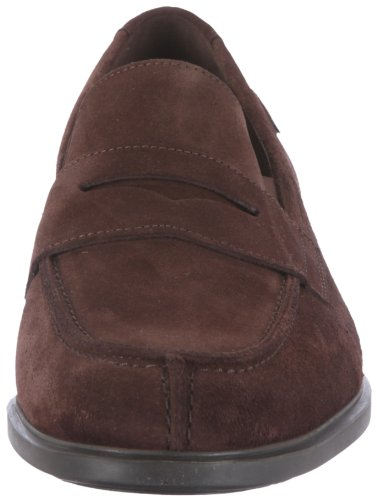 Mephisto Fortino Velours 9851 Dark Brown, Mocassino da uomo Marrone (Braun (Dark Brown Velours 9851))