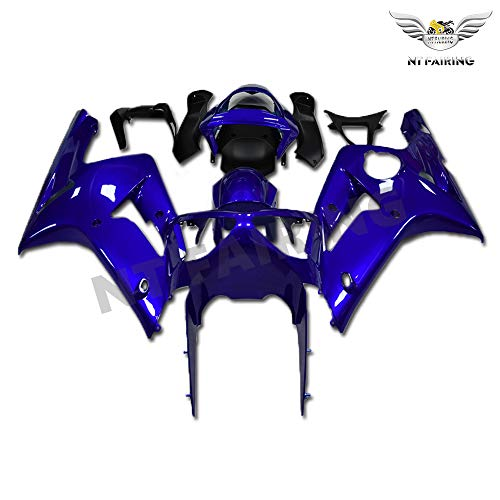 New Glossy Blue Fairing Fit for Kawasaki Ninja 2003 2004 ZX6R 636 ZX-6R Injection Mold ABS Plastics Aftermarket Bodywork Bodyframe 03 04