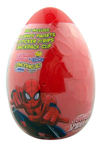 Avenger Superhero Spiderman Candy Toy and Sticker Filled Egg
