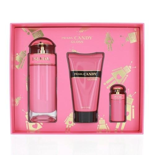 Candy Gloss by Prada Eau de Toilette Spray 80ml, Body Lotion 75ml & Eau de Toilette 7ml